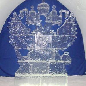 Ледяная скульптура: Герб России