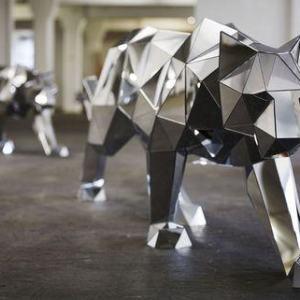Полигональная скульптура: Пантера