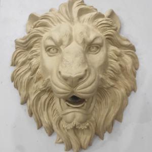 Скульптура из гипса: Морда льва