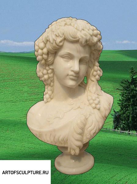Бюст на заказ из мрамора: «Дионис»