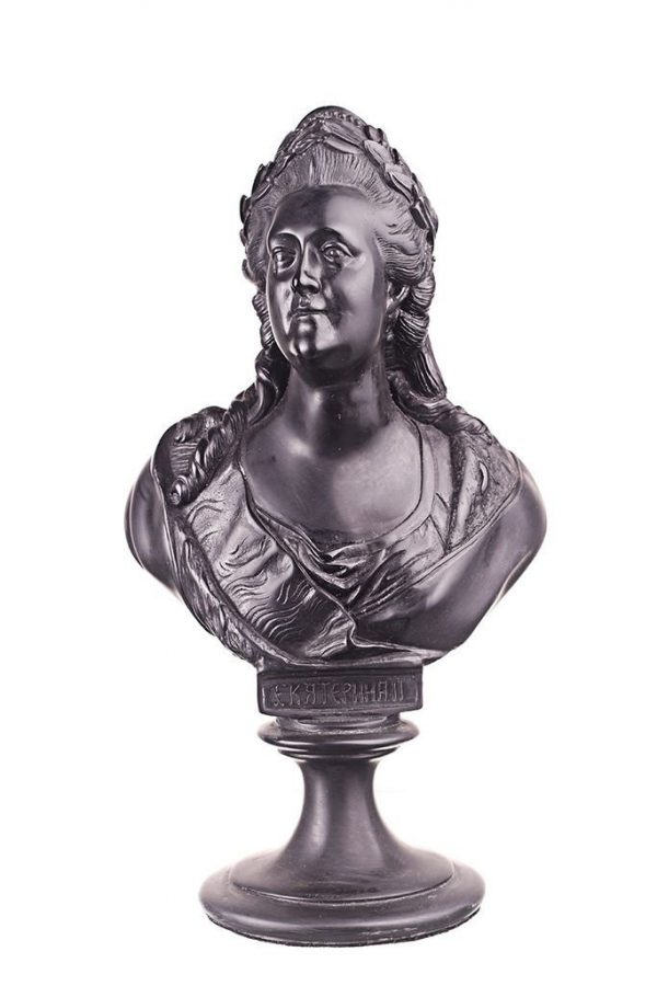Бюст на заказ из шунгита: «Екатерина II»