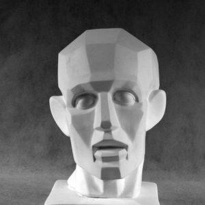Гипсовая скульптура: Голова Гудона