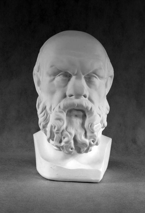 Гипсовая скульптура: Сократ