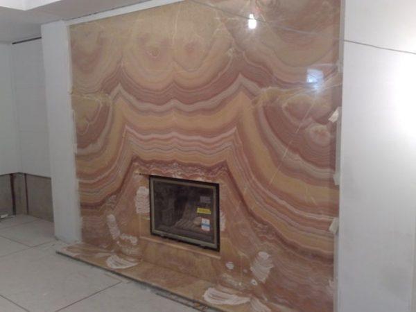 Каминная облицовка для оформления стены