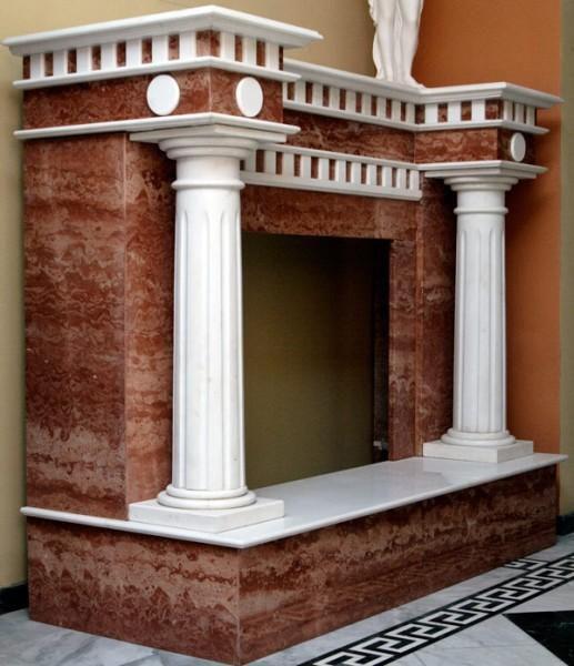 Каминная облицовка в античном стиле