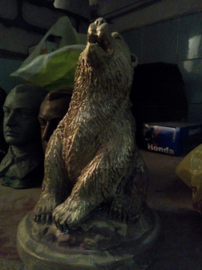 Бронзовая скульптура: «Дикий медведь»
