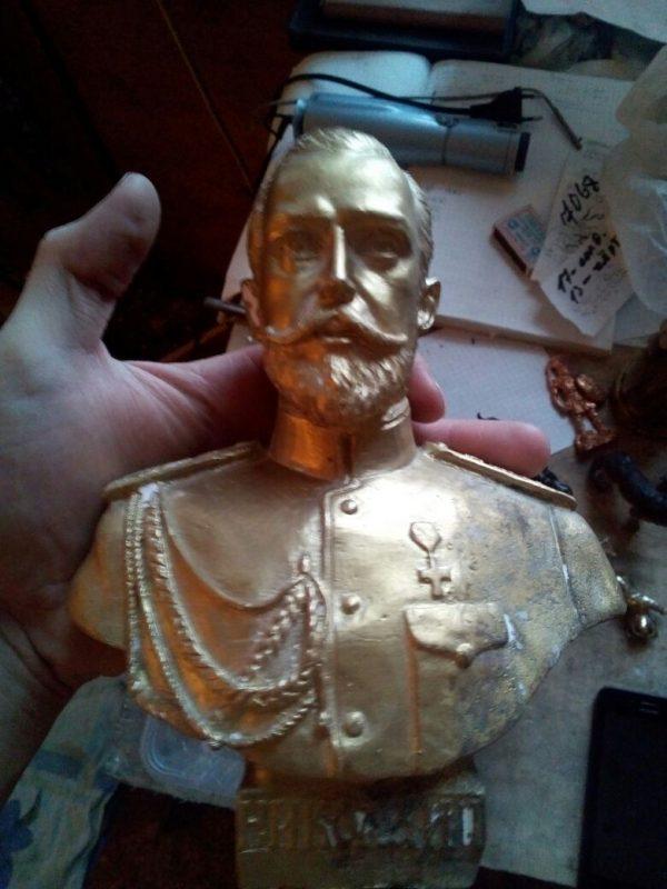Бронзовый бюст: «Николай II»
