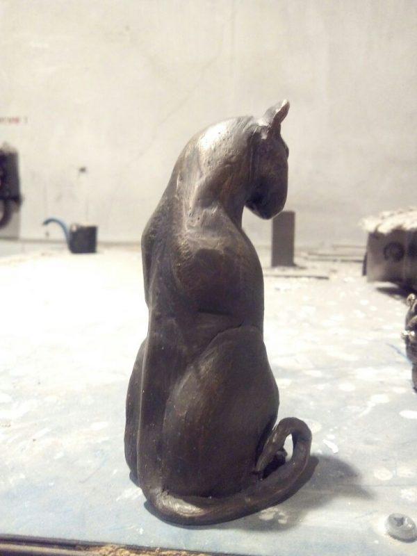 Бронзовая скульптура: «Кот Сфинкс»