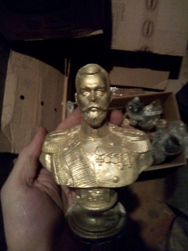 Бронзовая скульптура: «Николай II»