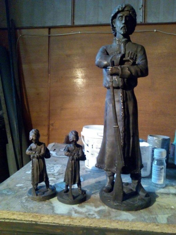 Бронзовая скульптура: «Казаки»