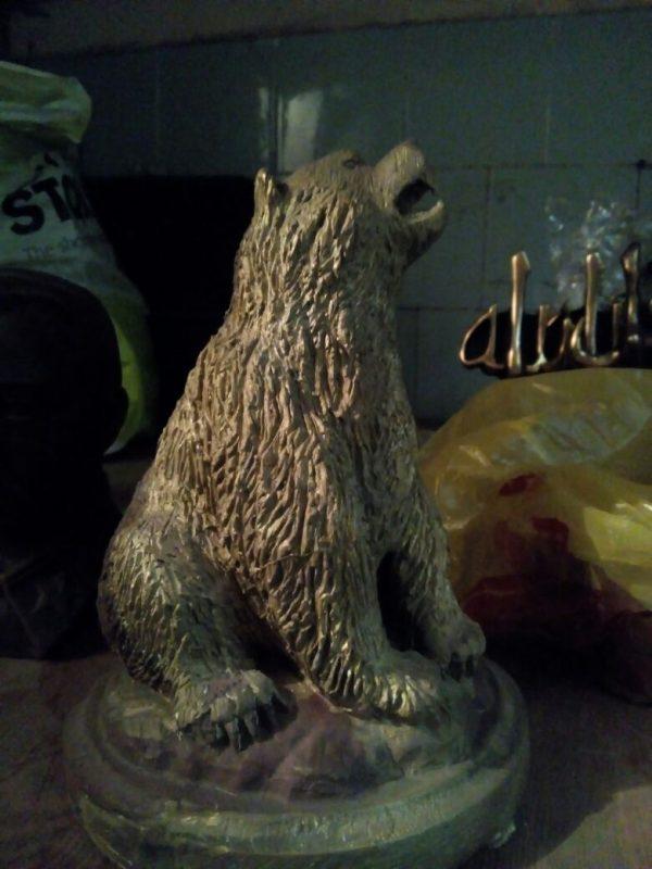 Бронзовая скульптура: «Медведь Гризли»