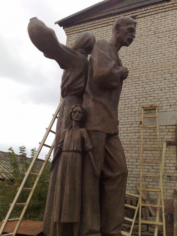 Бронзовая скульптура: Жертвы голодомора
