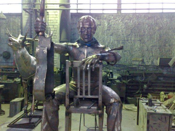Бронзовая скульптура: Владимир Высоцкий