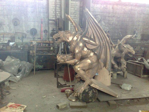 Бронзовая скульптура: Гаргульи