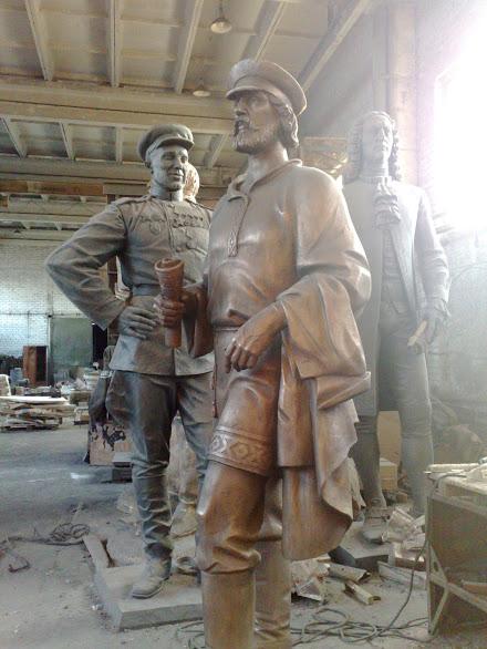 Бронзовая скульптура: «Мужчины»