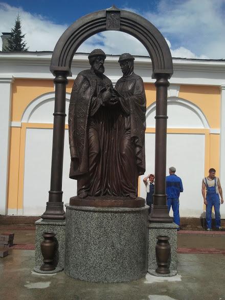 Бронзовая скульптура: Святые князь Петр и княгиня Февронья