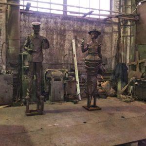 Бронзовая скульптура: «Встреча»