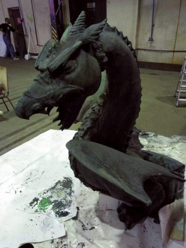 """Фигура из пенопласта """"Черный дракон"""""""
