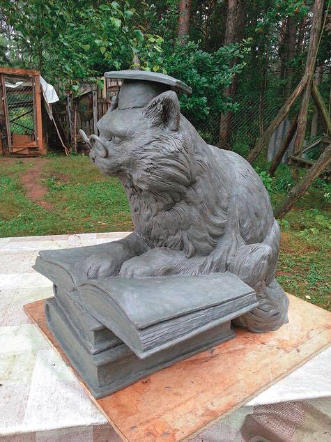 Фигура из пенопласта «Ученый кот»