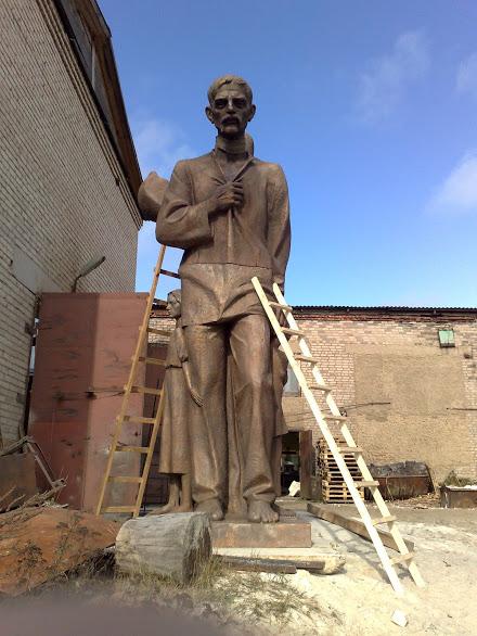 Бронзовая скульптура: «Защитник»