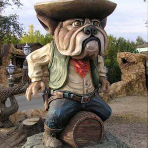 Скульптура из бетона: Шериф Бульдог