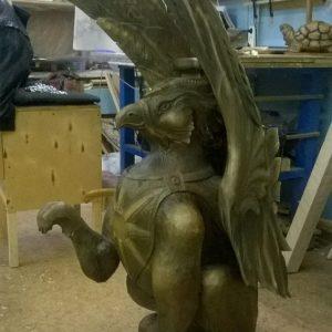 Скульптура из дерева: Гипогриф