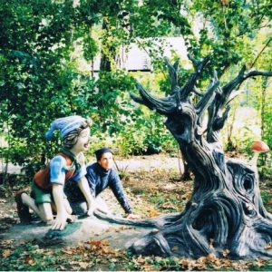 Скульптура из бетона: Буратино и денежное дерево