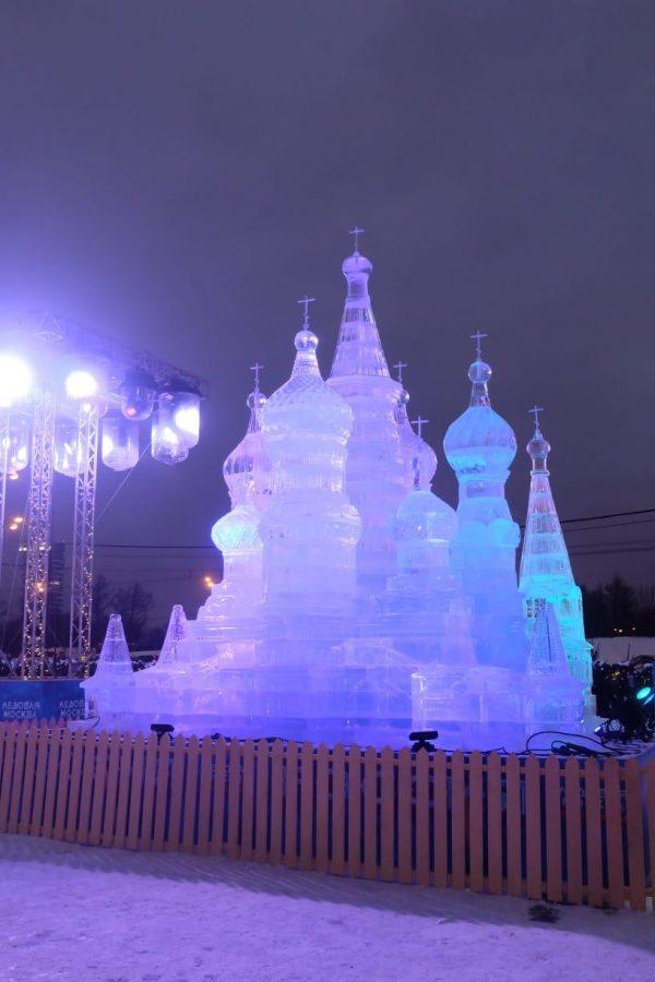 Ледяная скульптура: Храм