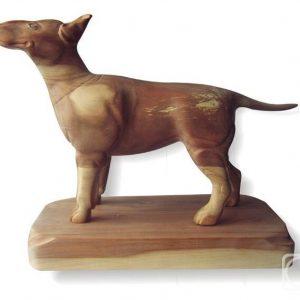 Скульптура из дерева: Фигурка собаки