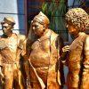 Фигуры из пенопласта: Герои Кавказской пленницы. Скульптуры из стекломата под бронзу