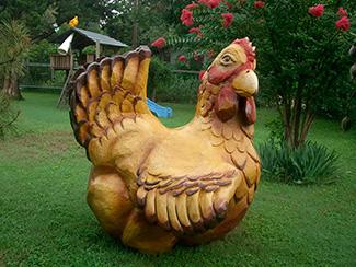 Фигура курицы из пенопласта