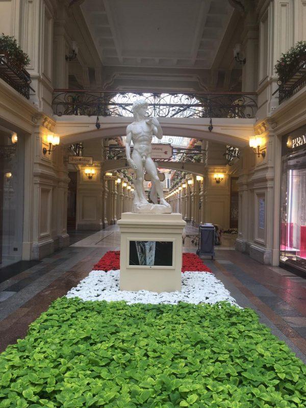 Скульптура из пенопласта и стеклопластика: Давид Микеланджело Буонаротти