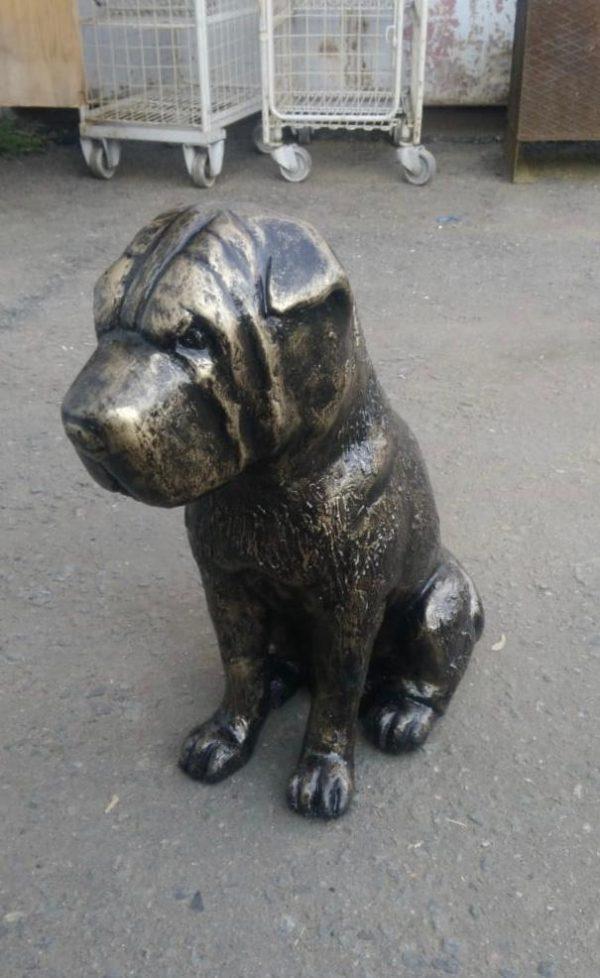 Скульптура из пенопласта и стеклопластика: Бронзовый пес