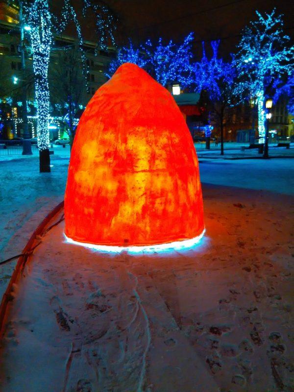 Скульптура из пенопласта и стеклопластика: Шапка гнома