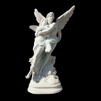 Статуи из белого мрамора