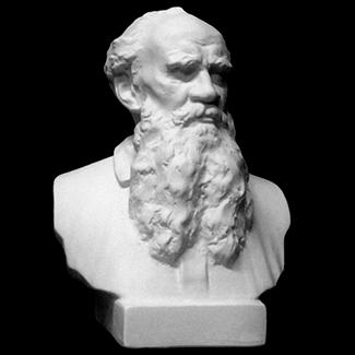 Бюст Льва Толстого из камня