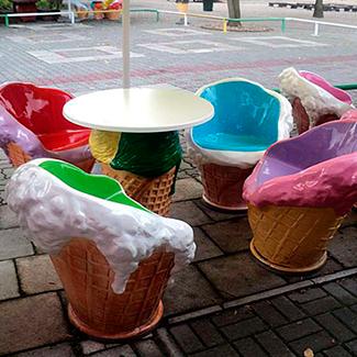 Мороженное из стеклопластика