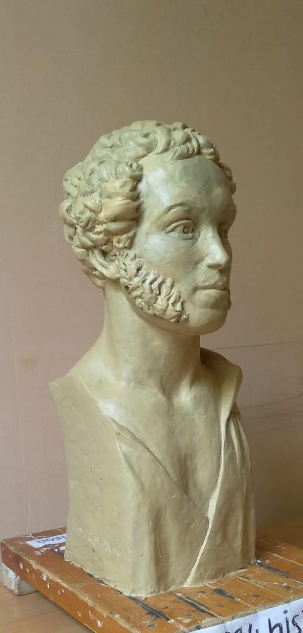 Бюст на заказ: Молодой А.С. Пушкин