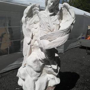 Скульптура из искусственного камня: Девочка-ангел