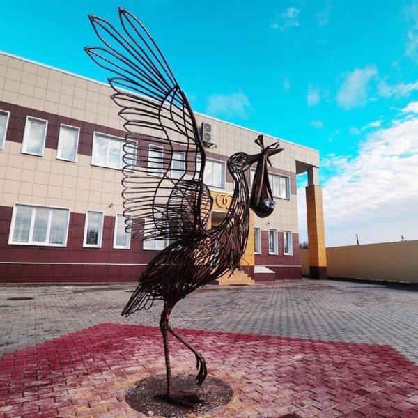 Скульптура из проволоки: Аист