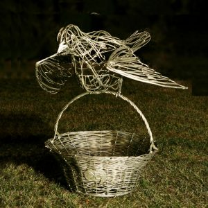 Скульптура из проволоки: Птица счастья