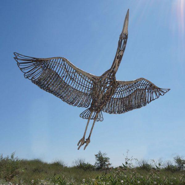 Скульптура из проволоки: Журавль