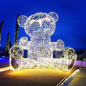 Скульптура из проволоки: Мишка