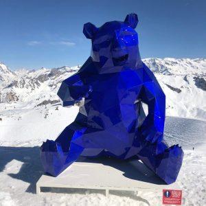 Полигональная скульптура: Медведь