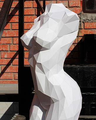 Полигональные статуи из полиэфирной смолы