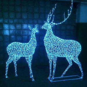 Скульптура из металла: Новогодние олени