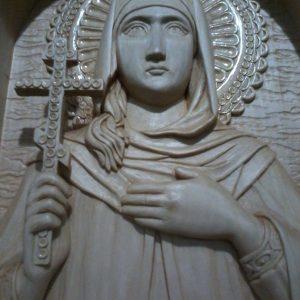 Икона из дерева: святая Лариса