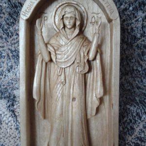 Икона из дерева: образ Божьей Матери Нерушимая стена