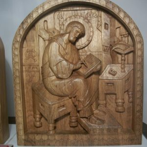 Икона из дерева: Святой Лука