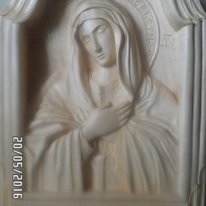 Икона из дерева: Умиление Богородицы